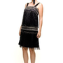 Black Dropped Waist 1920's Flapper Style Dress - XS to XL - Unique Vintage - Cocktail, Evening  Pinup Dresses