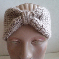 Women headband, Accessories,Khaki Hand Crocheted Headband, Earwarmer, Hair acccessorie. 2013 Trends.