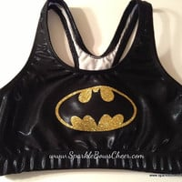 Batty Super Hero Metallic Sports Bra Cheerleading