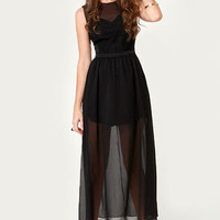 Ladakh Laced Lady Black Lace Dress
