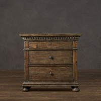 St. James Closed Nightstand Antiqued Coffee | | Restoration Hardware