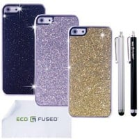 Amazon.com: ECO-FUSED&amp;reg iPhone 5 Combo / Three Sparkle Bling Hard Cases - 8 - Silver, Gold, Black / - AT&amp;T, Sprint, Verizon, US Cellular, T-Mobile and International: Cell Phones &amp; Accessories