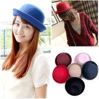 Retro Style Wool Stunning Gracious Women Cute Trendy Bowler Derby Hat Cloche New