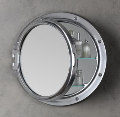 Royal Naval Porthole Mirrored Medicine Cabinet | Medicine Cabinets | Restoration Hardware