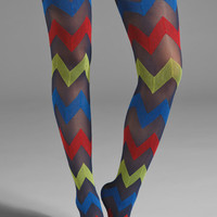Pretty Polly House of Holland Zig Zag Tights in Multi from REVOLVEclothing.com
