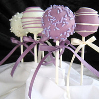 Cake Pops Purple Wedding Party Favors Includes by TheSweetSource