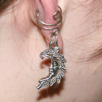 Moonlight Flourish Ear Cuff