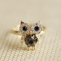 precious owl ring at ShopRuche.com