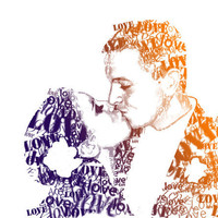Personalized Wedding gift Word Portrait from by MandasArtStudio