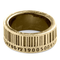 Up to Barcode Ring in Gold | Mod Retro Vintage Rings | ModCloth.com