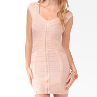 Zippered Mini Bandage Dress | FOREVER21 - 2030187061