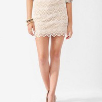 Scalloped Crochet Lace Skirt