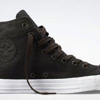 Converse Chuck Taylor All Star Hi Top Collar Break Black Coated Canvas Shoes