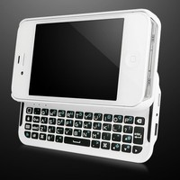 BoxWave Keyboard Buddy iPhone 4S / 4 Case - Backlit Edition - Bluetooth Keyboard Case with Integrate