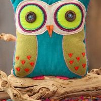 You Are Loved Owl Teal and Lime Green Shaped Pillow Natural Life: Home & Kitchen
