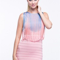 cotton candy in the winter fringe dress  i have few sizes hurry thi...