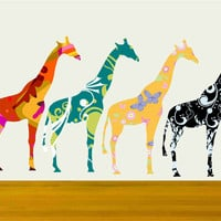 Small Giraffe Decals Stickers With .. on Luulla