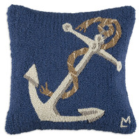 Anchor 18&quot;; Square Pillow