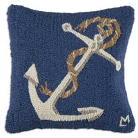 "Anchor 18""; Square Pillow"