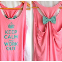 Keep Calm And Work Out Tank - Mediu.. on Luulla