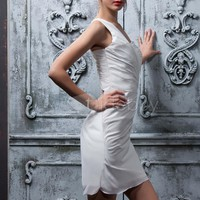 Fantastic Column One-Shoulder Mini/Short Polina's Cocktail/Prom Dress