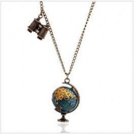 Wholesale Globe Decorated Special Design Hot Sale Necklace