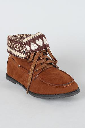 Dollhouse Tuti Moccasin Lace Up Bootie
