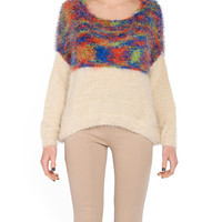 Fuzzy Multi Colored Sweater - 2020AVE