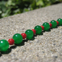 Traditional Jade and Coral Choker