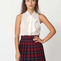 American Apparel - Chiffon Sleeveless Secretary Blouse