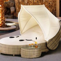 The Marcotte Collection All Weather Wicker Patio Furniture Day Bed/Chaise Lounge