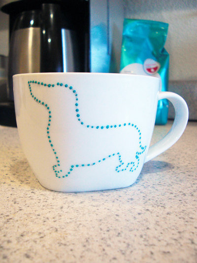 Dachshund Mug by FuzzyTailDesigns on Etsy