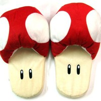 Super Mario Brothers : Mushroom Slippers (Red)
