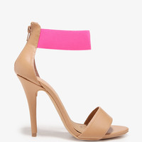 Neon Ankle Strap Sandals