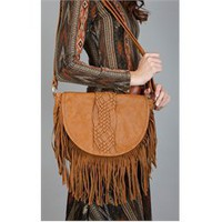 Fringe Braid Trim Messenger Bag