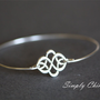 Celtic Knot Bracelet , Silver Knot Bangle , Celtic Bangle, Knot Jewelry, Celtic Jewelry, Knot, Celtic Bracelet, Stackable Bangles