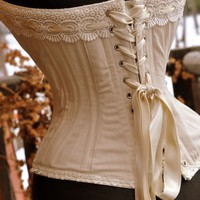 Hippie Wedding Corset by LaBelleFairy on Etsy