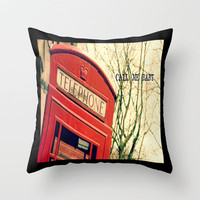 Call Me  Throw Pillow by secretgardenphotography [Nicola] | Society6