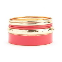 Enamel Metallic Bangle Set: Charlotte Russe