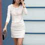 Wholesale Paillette Show Body OL Dresses White : Wholesaleclothing4u.com