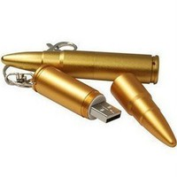 Cool Bullet Special Style 8GB USB Flash Drive with keychain(Golden)