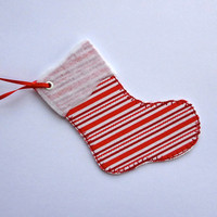 Large Gift Tag, Christmas Stocking Gift Tag, Stocking Ornament