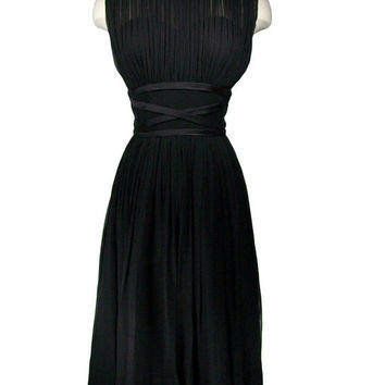 Vintage 1950s 1960s Dress / R & K Originals Black by FrocknRock