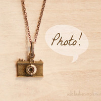 Camera Love pendant. vintage, camera, camera necklace, Antique Gold, vintage inspired, camera lovers, pendant for photographers.