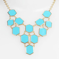 Carole Enamel Hexagon Bib Necklace | Nordstrom