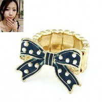 Korean Style Stretchy Bow Ring wholesale by the dozen