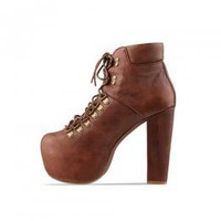 Magazine Recommoend Brown Korean Girls High Heeled Pumps : Wholesaleclothing4u.com