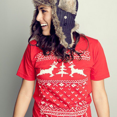 Deer Ugly Christmas Sweater Tshirt by Vardagen on Etsy