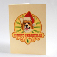 Corgi Christmas Cards Pack of 4