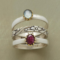 GEMS &amp; FLOWERS RING TRIO
